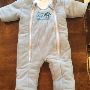 Baby Merlin's Magic Sleepsuit light blue large